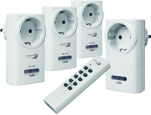 Home Easy Funk-Dimmer und Schalter-Set HE815S (ein Funk- Dimmstecker, drei Funk- Schalter und eine Fernbedienung)