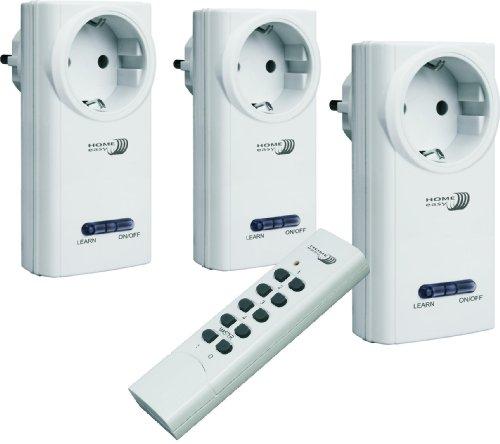 Home Easy HE808S Funk- Schalterset (drei Schalter und eine Fernbedienung)