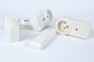 Weiße Funksteckdosen